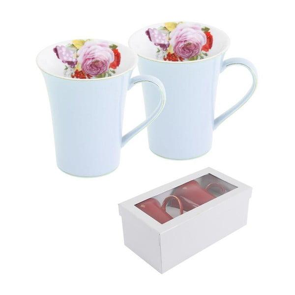 Sada 2 hrnků v dárkové krabičce Pink Rose