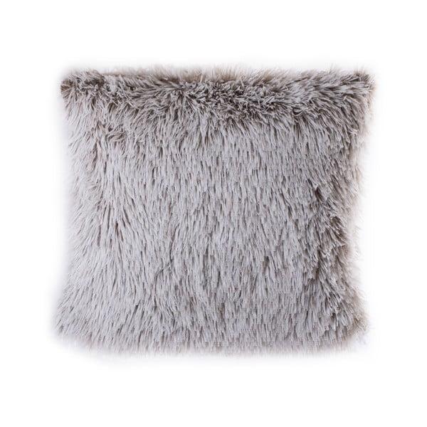 Beżowa poduszka z włosiem JAHU Peluto, 45x45 cm