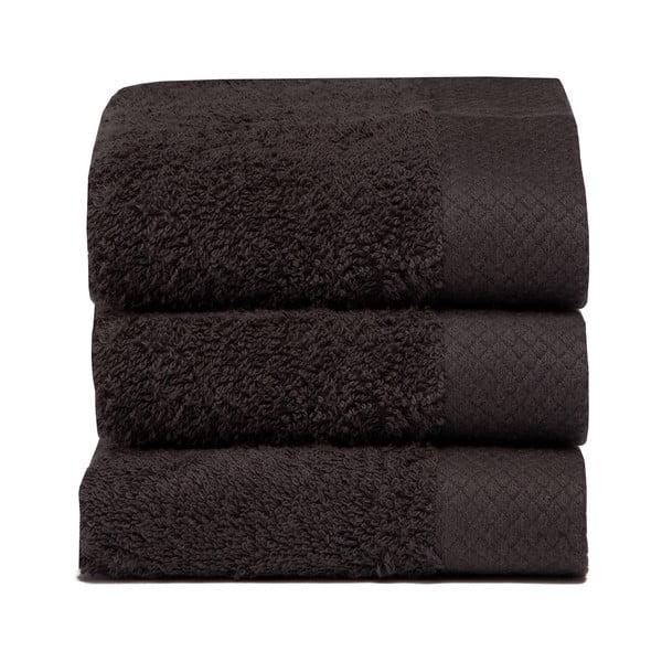 Set 3 ručníků Pure Basalt, 30x50 cm