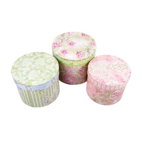Sada 3 úložných krabic Sweet Day