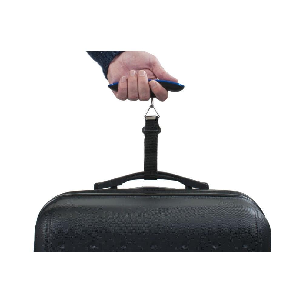 Modrá elektronická váha pro zvážení kufru Bluestar