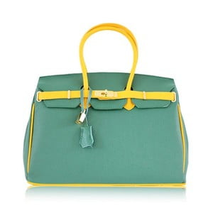 Kožená kabelka Dolce Birk Verde/Giallo