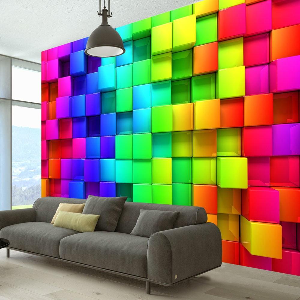 Velkoformátová tapeta Bimago Cubes, 350 x 245 cm