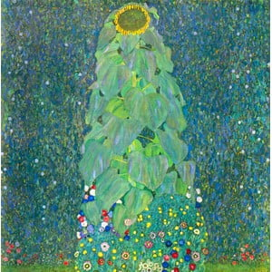 Gustav Klimt - obraz The Sunflower, 80x80 cm