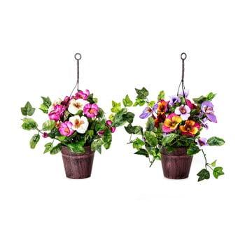 Set 2 plante artificiale în ghiveci Unimasa Pensamie de la Unimasa