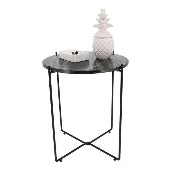 Zelený odkládací stolek s mramorovou deskou Compactor Agneta