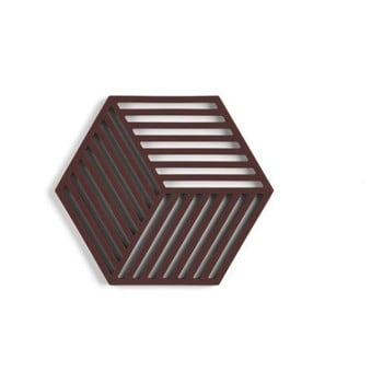 Suport din silicon pentru vase fierbinți Zone Hexagon, roșu maro imagine