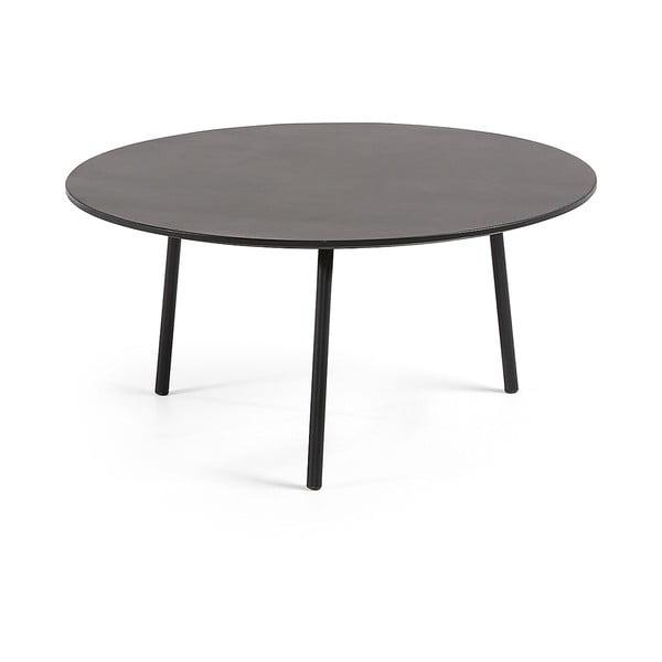 Czarny stolik La Forma Ulrich, ⌀ 70 cm