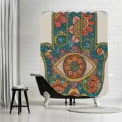 Koupelnový závěs Hamsa, 180x180 cm