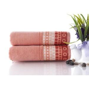 Set dvou ručníků Golf Pinkish Orange, 50x90 cm