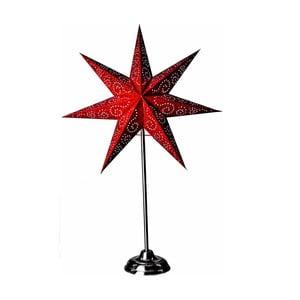 Svítící hvězda se stojanem Antique Red, 70 cm