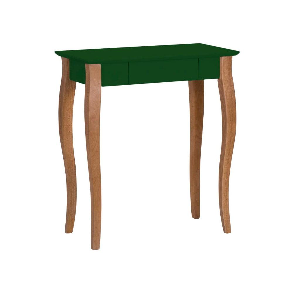 Tmavě zelený psací stůl Ragaba Lillo, šířka 65 cm