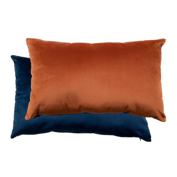 Braga kék és narancssárga párnaszett bársony huzattal, 40 x 60 cm - House Nordic