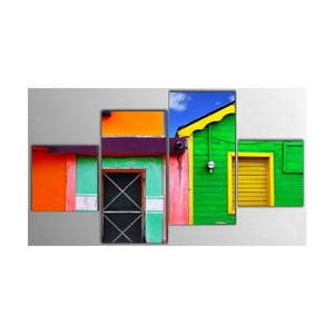 4dílný obraz Color House, 50x100 cm