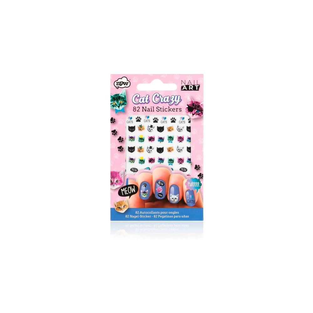 Sada nalepovacích samolepek na nehty npw™ Crazy Cat Nail Stickers