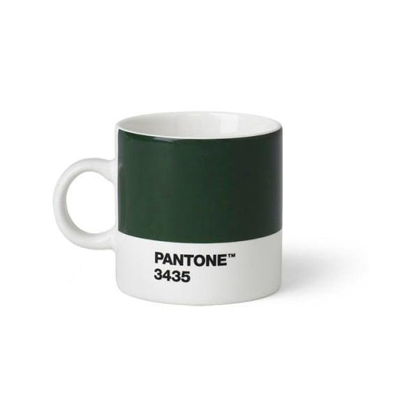 Zelený hrnek Pantone 3435 Espresso, 120 ml