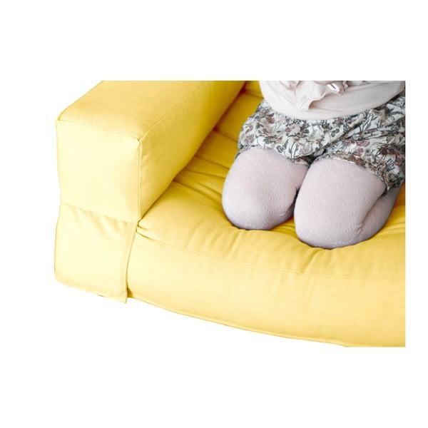 Žluté dětské rozkládací křesílko Karup Mini Hippo