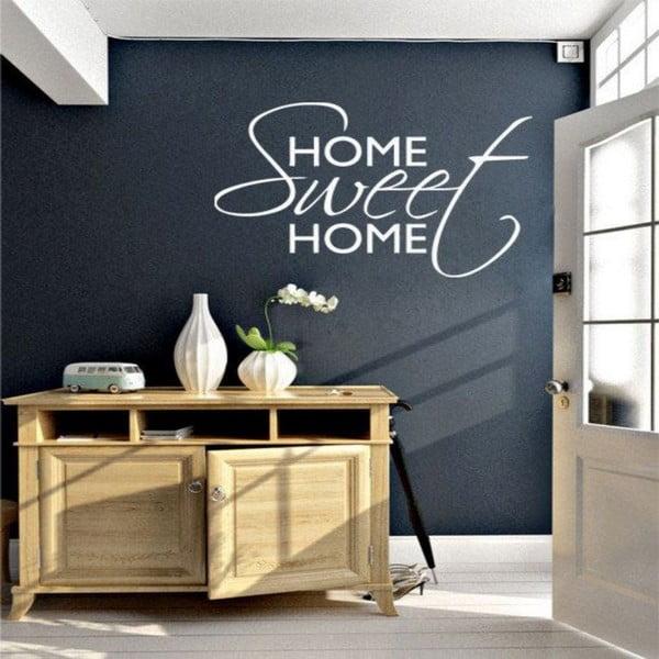 Dekorativní nálepka na stěnu White Home Sweet Home