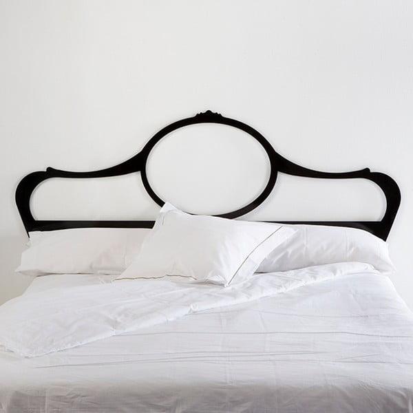 Černé kovové čelo postele Thai Natura Phichit, pro šířku 160 cm