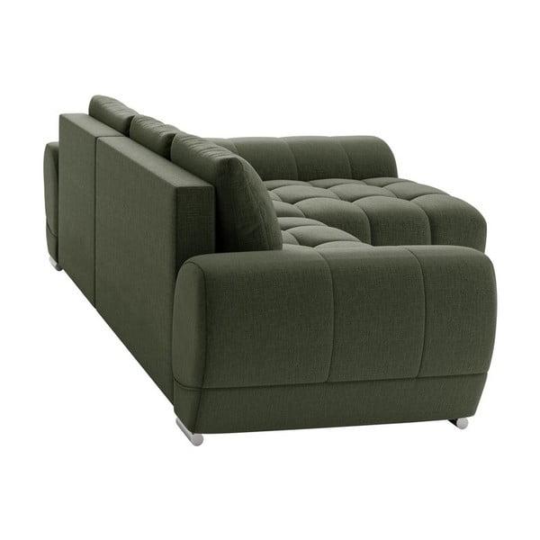 Canapea extensibilă de colț Windsor & Co Sofas Cloudlet, pe partea dreaptă, verde