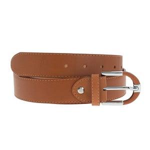 Hnědý kožený pásek Giulia Bags BLT,délka110cm