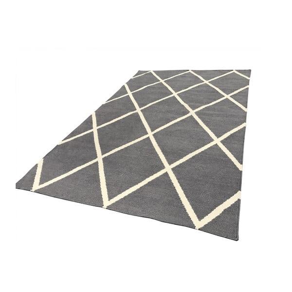 Šedý oboustranný koberec vhodný i do exteriéru Green Decore Diamond Duro, 60 x 90 cm