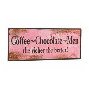 Cedule Coffee-Chocolate-Men, 31x13 cm