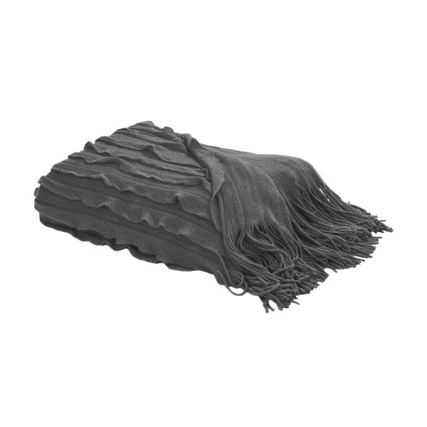 Pléd s třásněmi 127x152 cm, šedá