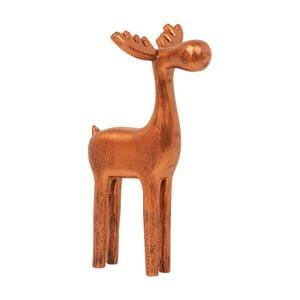 Dekorace Archipelago Large Wooden Copper Reindeer, 25 cm