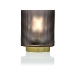 Šedá skleněná olejová LED lampa Versa Relax, ⌀ 11,8 cm