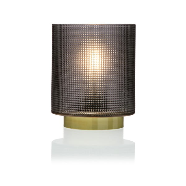 Relax szürke üveg LED lámpás, ⌀ 11,8 cm - Versa