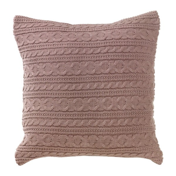 Pletený polštář s náplní Latté