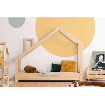 Pat din lemn de pin în formă de căsuță Adeko Luna Bek, 80 x 170 cm