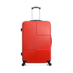 Červený cestovní kufr na kolečkách Hero Coronado, 91 l