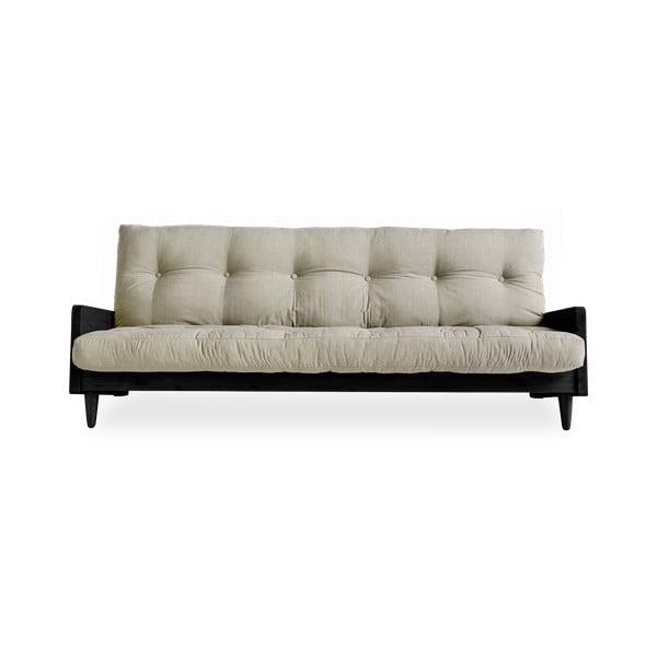 Indie Black/Linen kinyitható kanapé - Karup Design