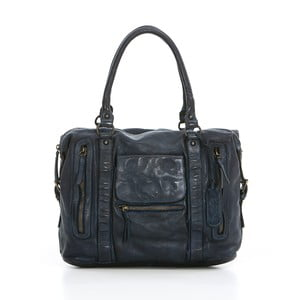 Modrá kožená kabelka Just B Different Draco