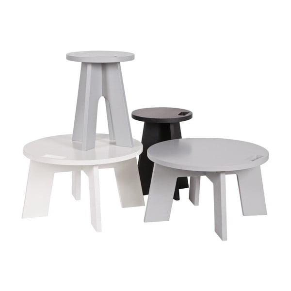 Světle šedý konferenční stolek z borovicového dřeva vtwonen Grip