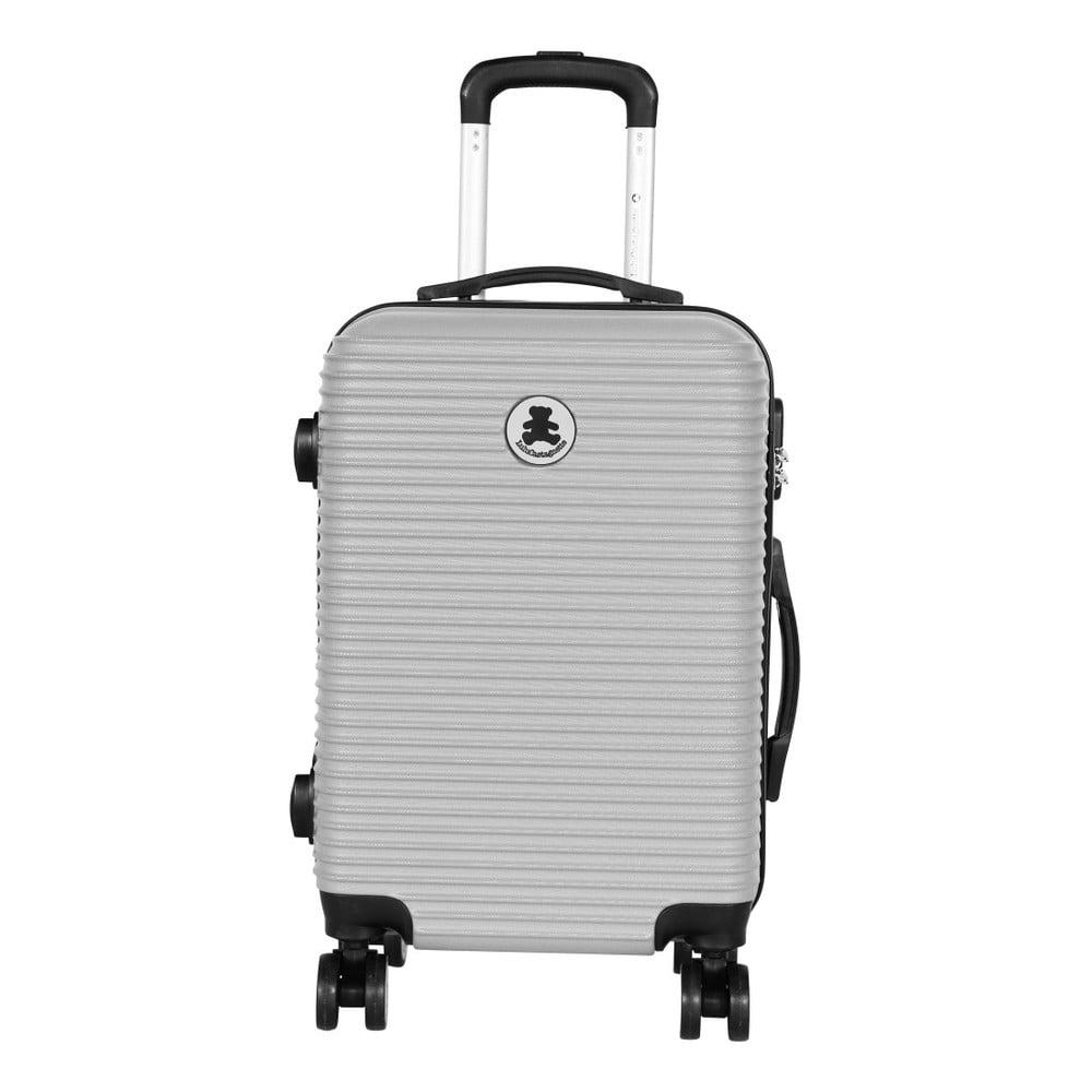 Světle šedý příruční kufr LULU CASTAGNETTE Lucy, 44l