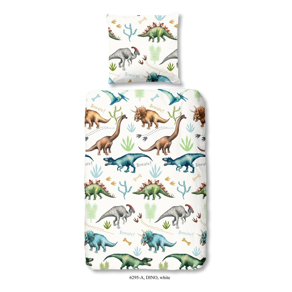 Dětské povlečení na jednolůžko z bavlny Good Morning Dino, 140 x 200 cm Good Morning