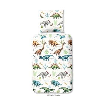 Lenjerie de pat din bumbac pentru copii Good Morning Dino, 140 x 200 cm imagine