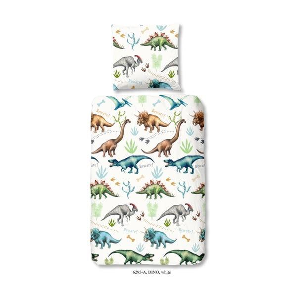 Dziecięca pościel jednoosobowa z bawełny Good Morning Dino, 140x200 cm