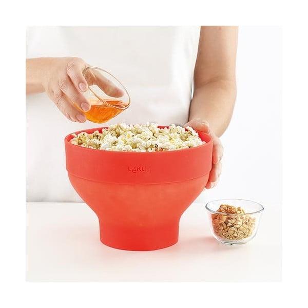 Silikonová forma na popcorn, červená