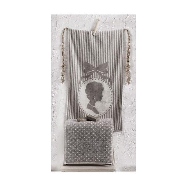 Sada 2 ručníků Bouguet Madam Stone, 50x90 cm a 90x145 cm