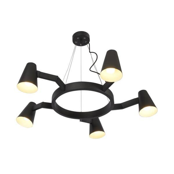 Černé závěsné svítidlo pro 5 žárovek Citylights Biarritz