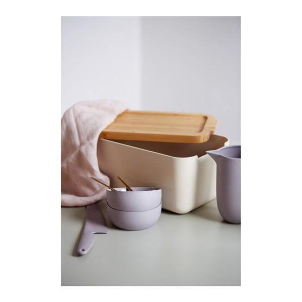 Cutie pâine cu tocător din bambus Wenko Derry, bej