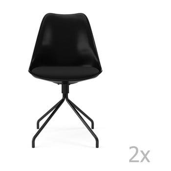Set 2 scaune dining Tenzo Gina Star, negru de la Tenzo