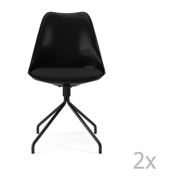 Zestaw 2 czarnych krzeseł Tenzo Gina Star