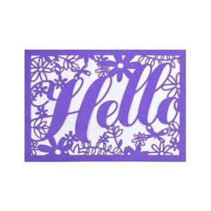 Set 10 felicitări cu plic  Portico Designs FOIL Hello