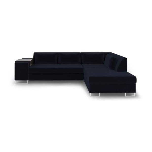 Tmavě modrá rozkládací pohovka Cosmopolitan Design San Antonio, pravý roh