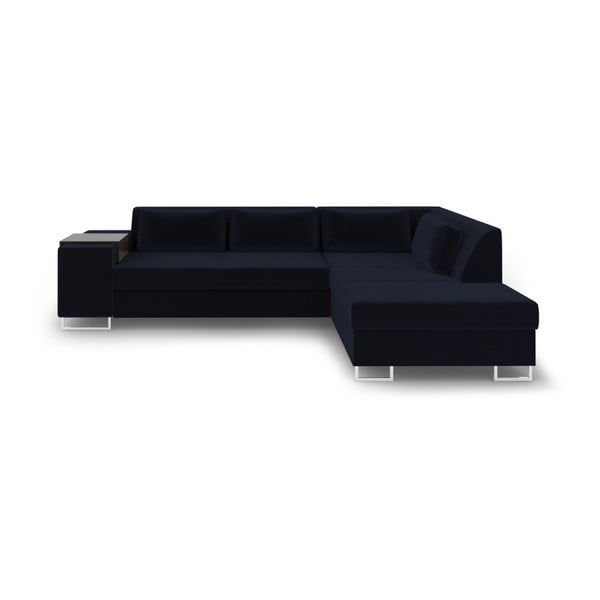 Ciemnoniebieska rozkładana sofa prawostronna Cosmopolitan Design San Antonio